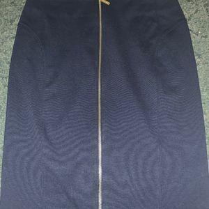 Woman's Michael Kors Black Short Zippered Skirt